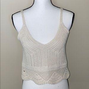 NWOT H&M crochet crop top